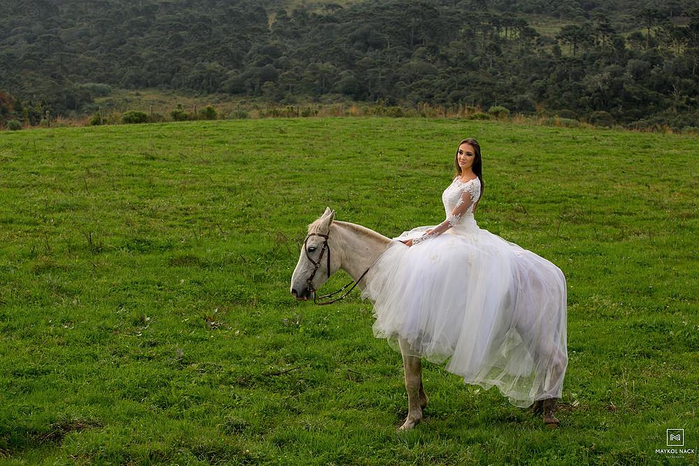 Noiva cavalo rio do rastro eco resort