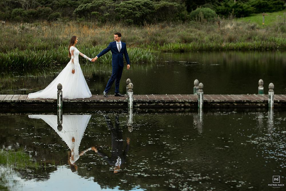 Fotos de noivos na serra