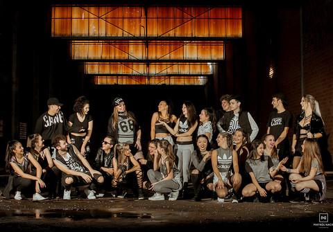 Individual de uMa Família Grupo de Dança