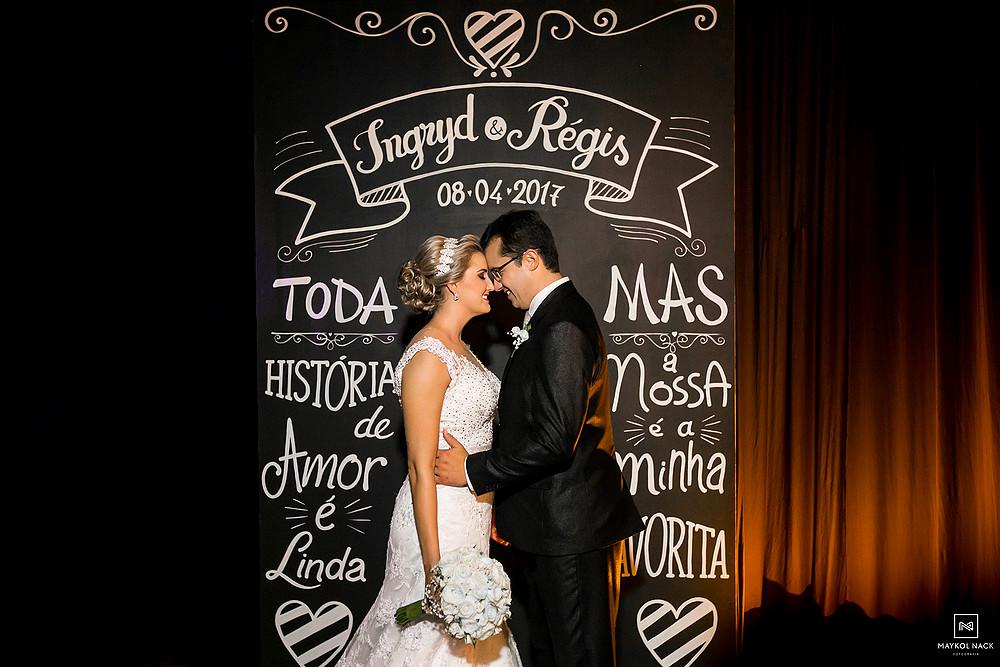 painel para fotos de casamento