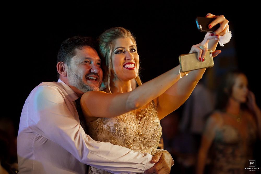 selfie casamento armazém