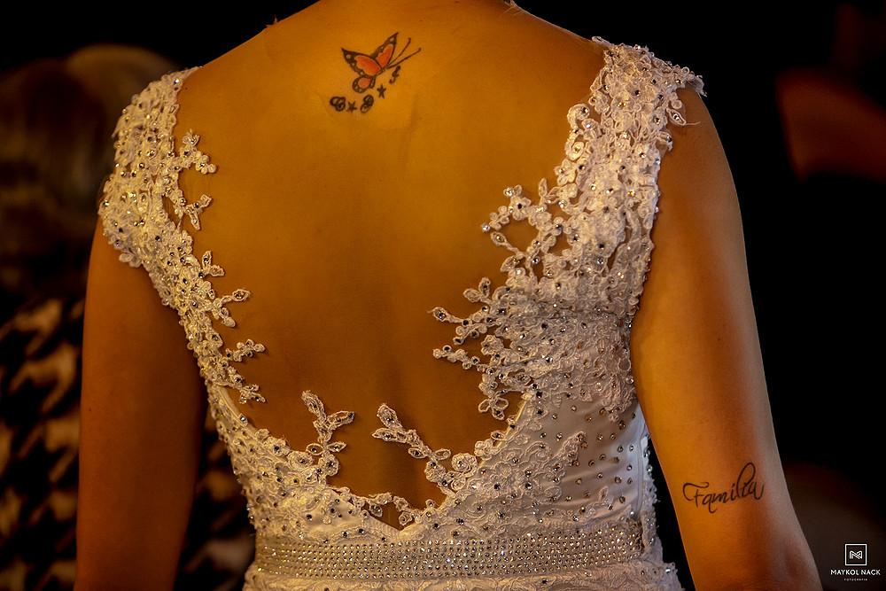 detalhes vestido de noiva casamento