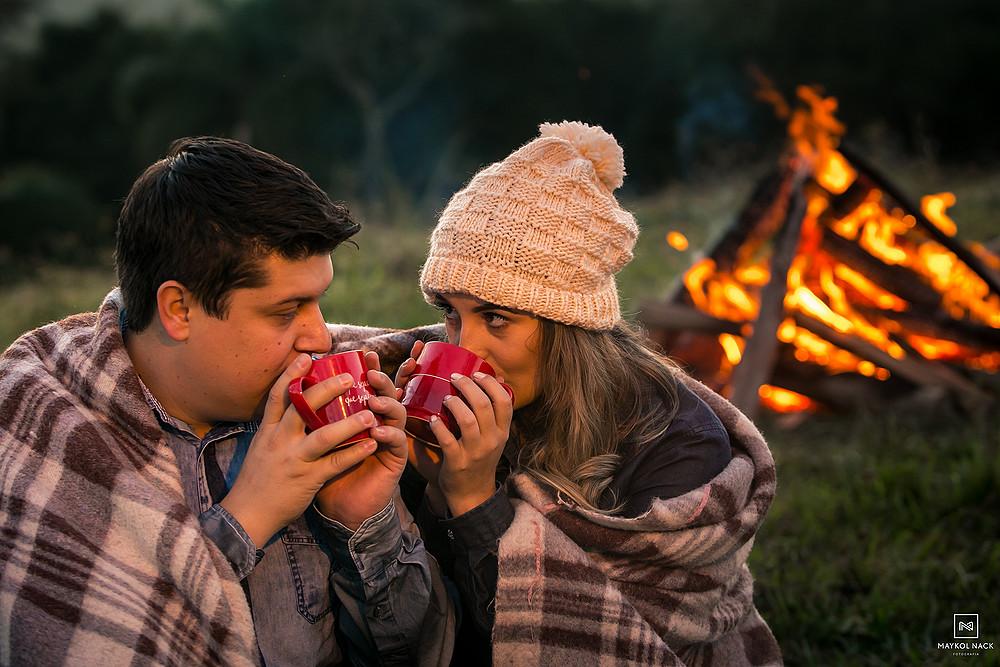 ensaio de casal fogueira