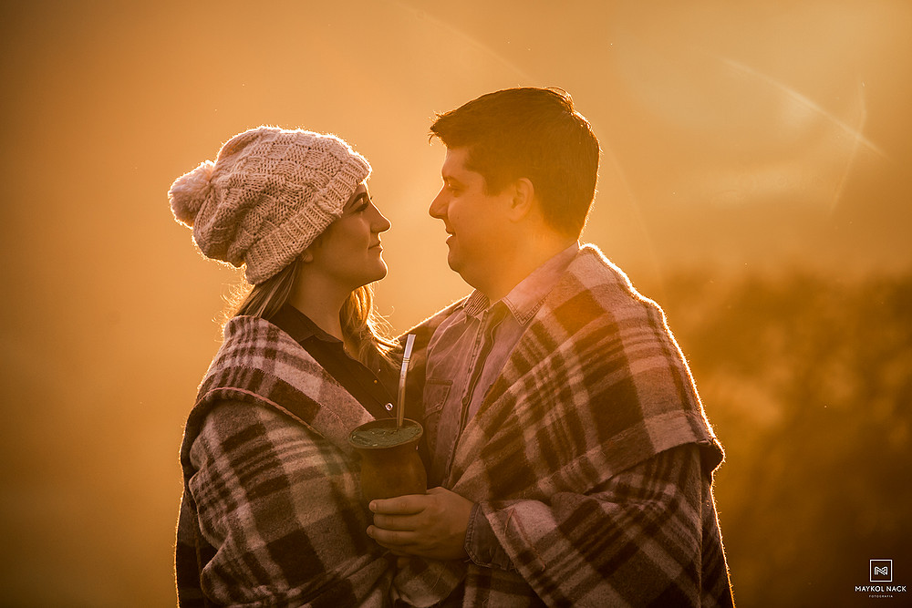 casal nascer do sol