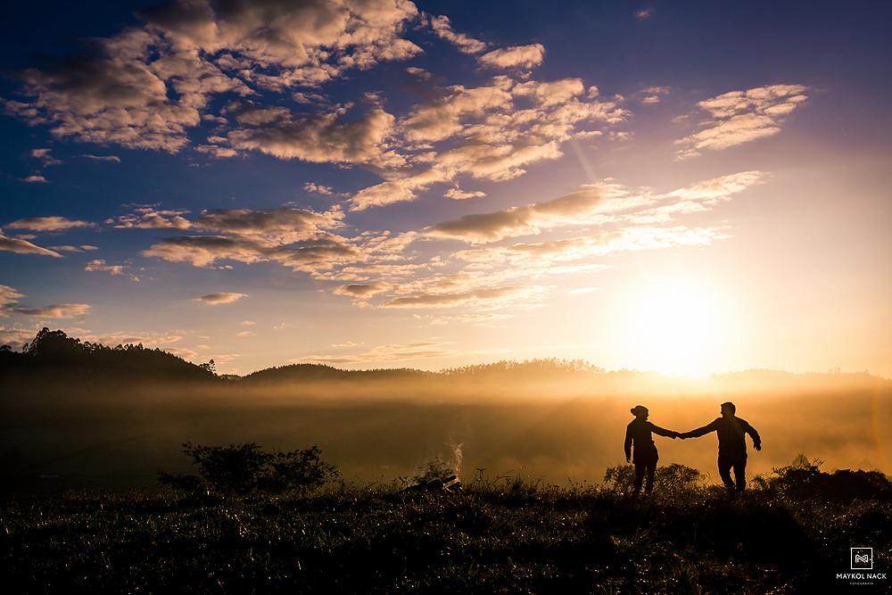 ensaio no nascer do sol