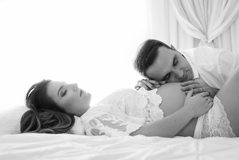 sessão de gravidez em casa
