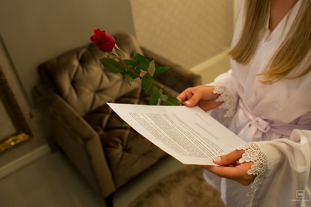 carta da mae para noiva