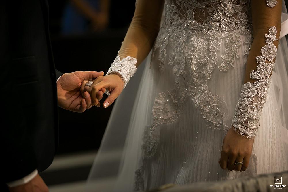 detalhes de vestido de noiva casamento