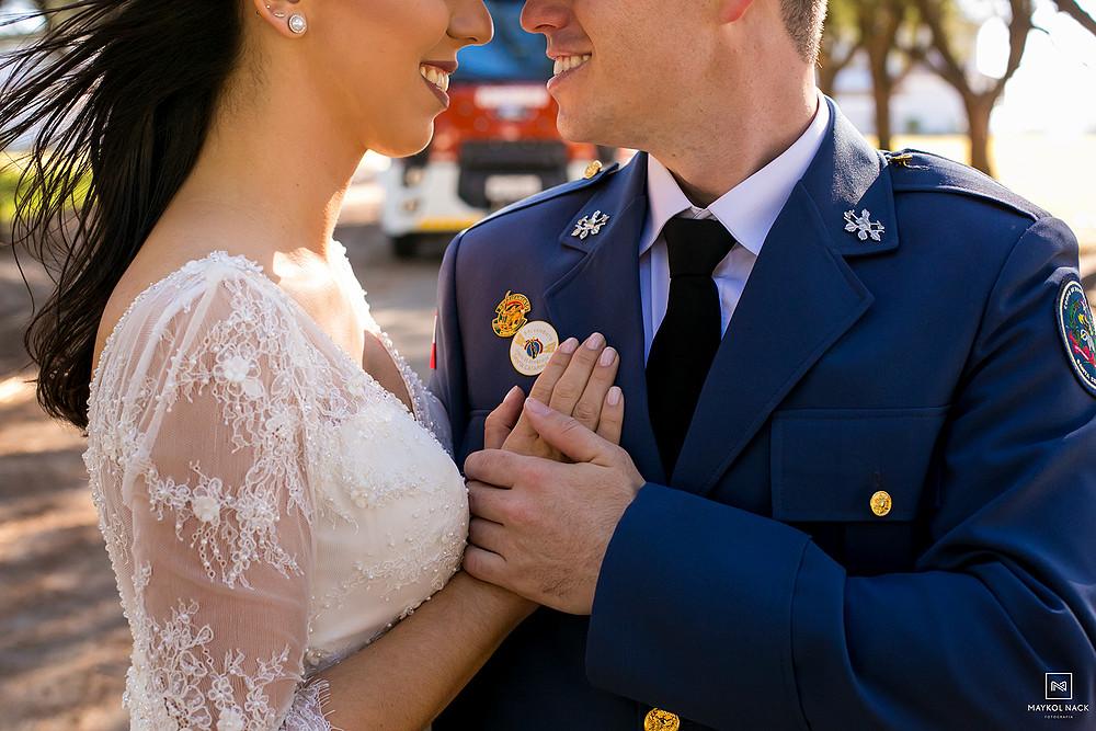 ensaio pré-wedding bombeiro militar