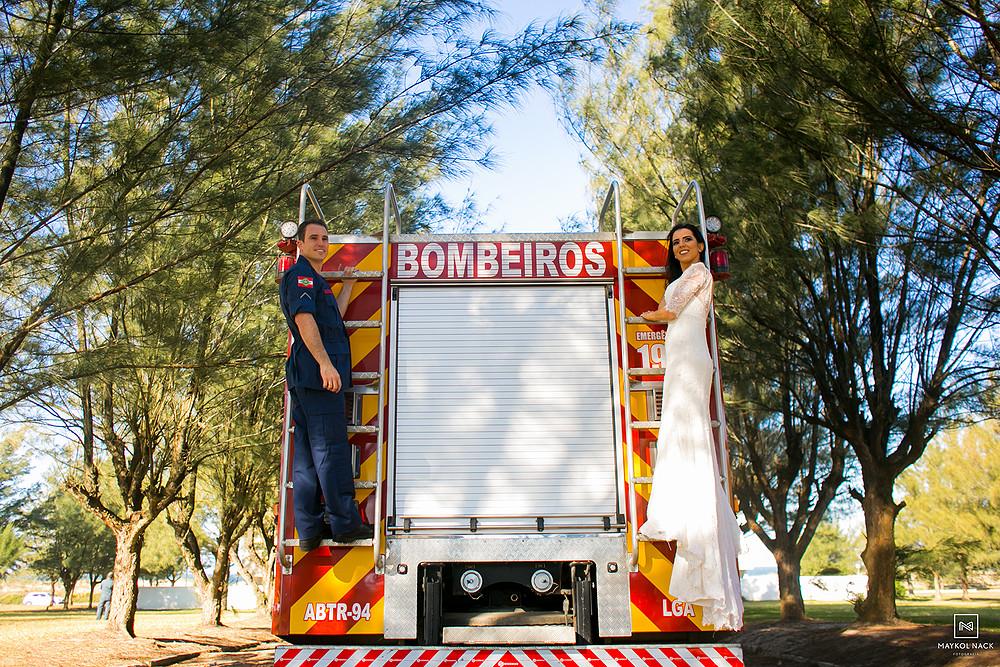 casamento bombeiro