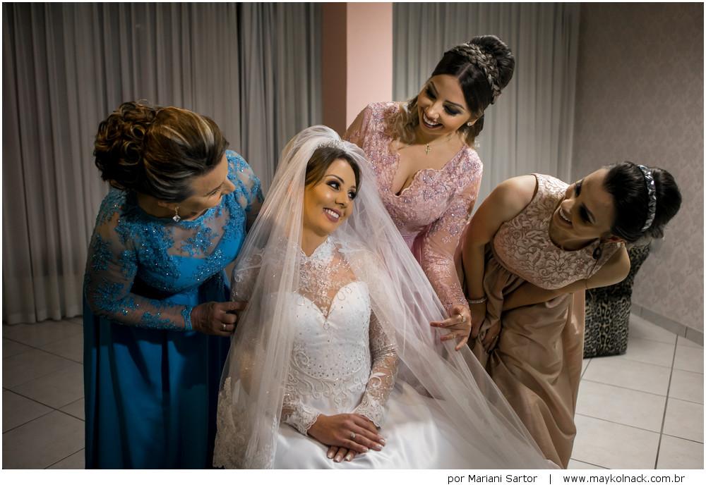 noiva com a família