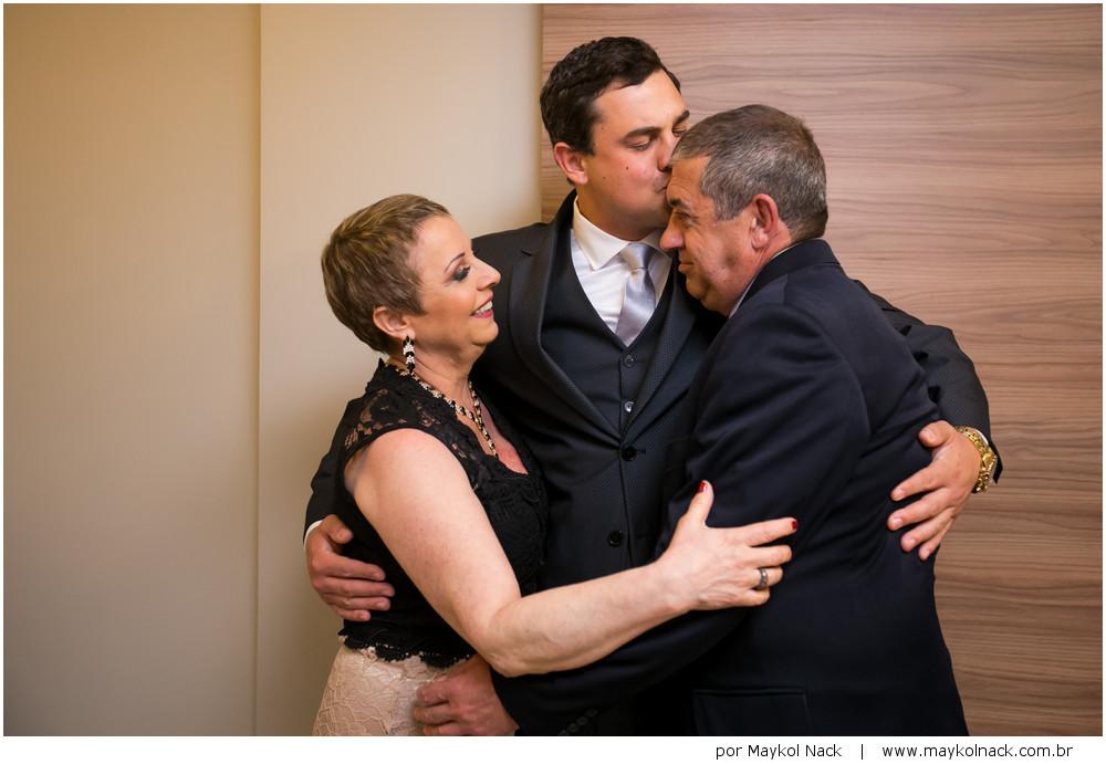 noivo e família