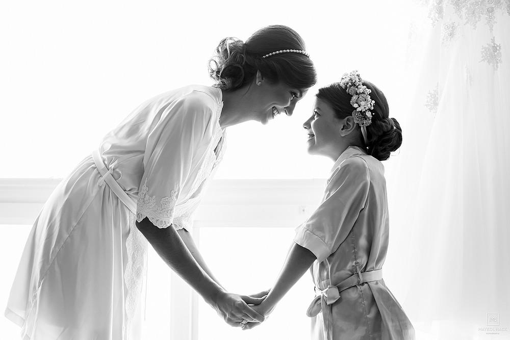 irmãs no casamento