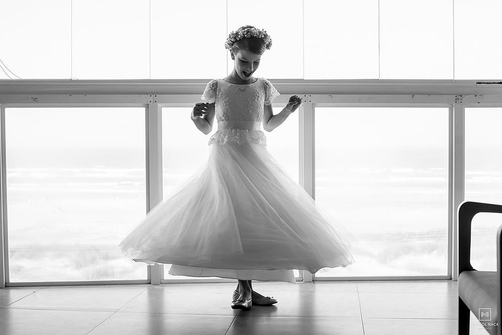 vestido de noivinha em laguna