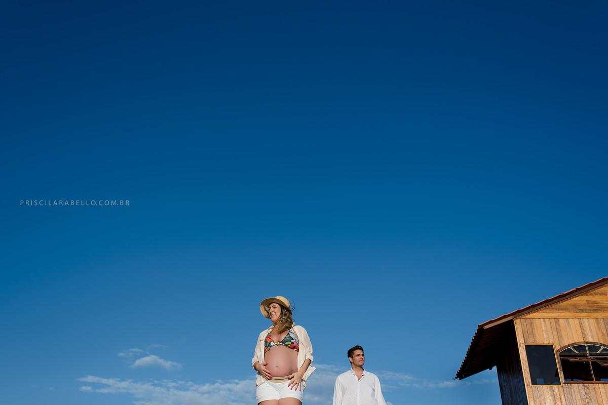fotografia de gravida, ensaio na praia