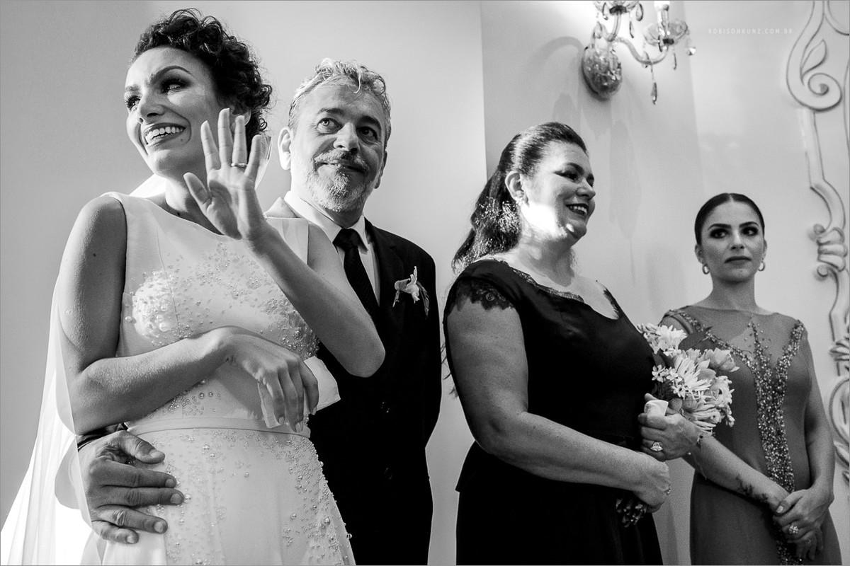 abanando durante o casamento