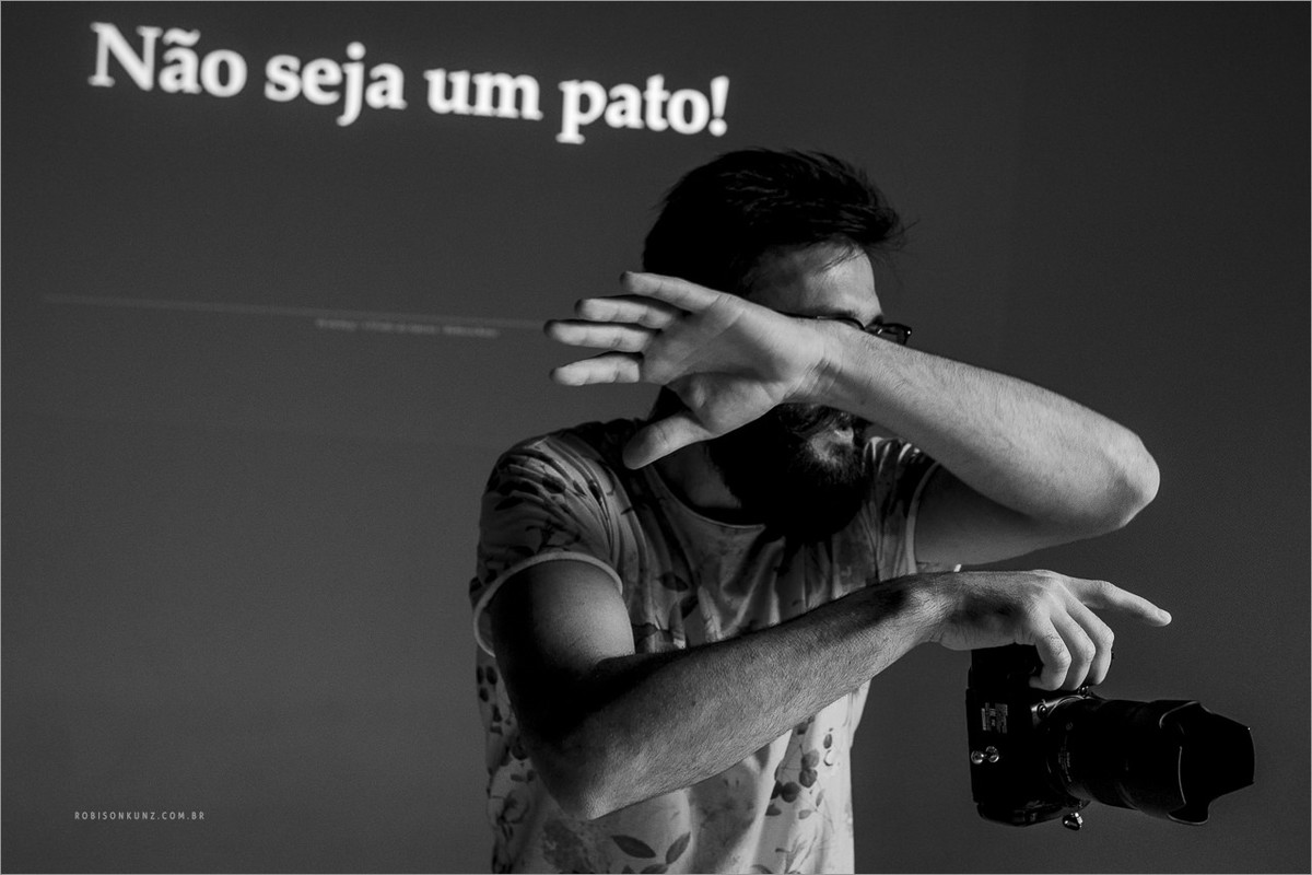 robison kunz dando aula de fotografia