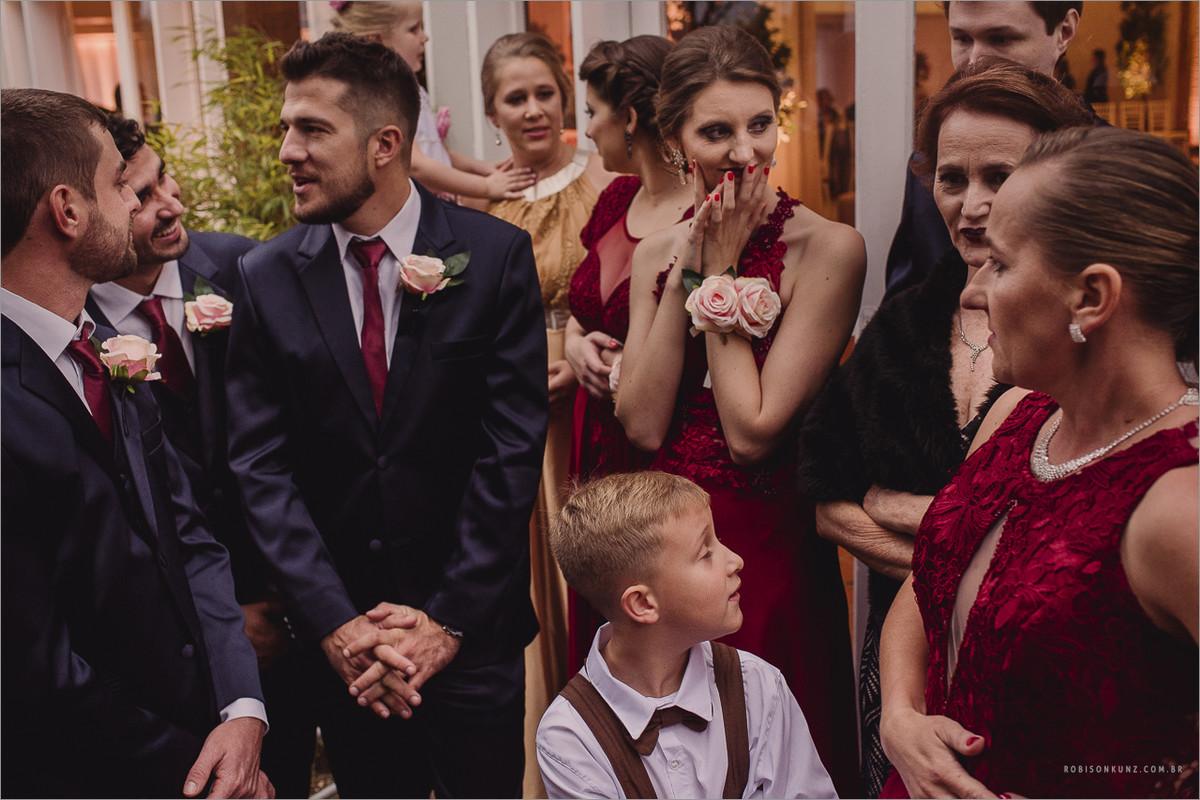 padrinhos esperando a noiva