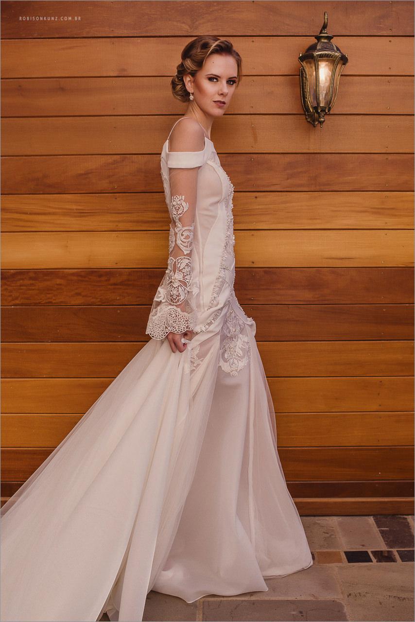 vestido de noiva retro