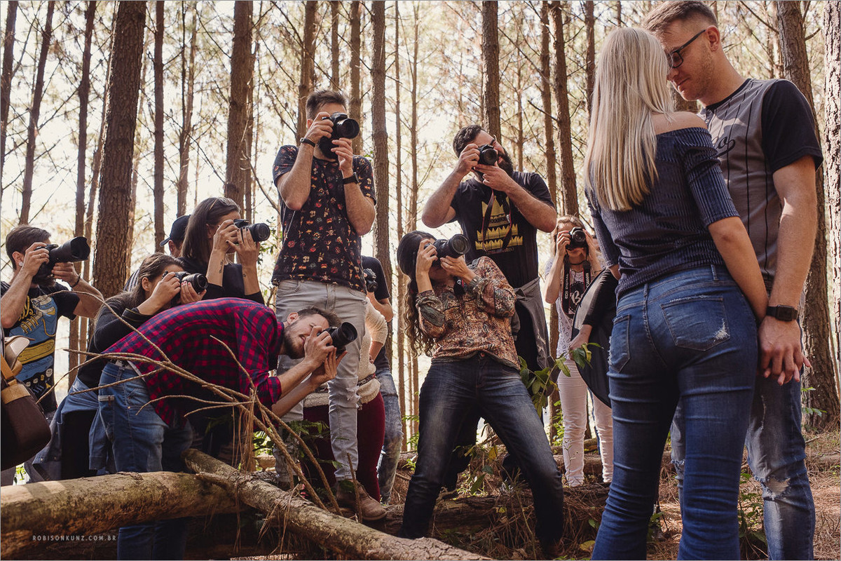 aula de fotografia na pratica com robison kunz