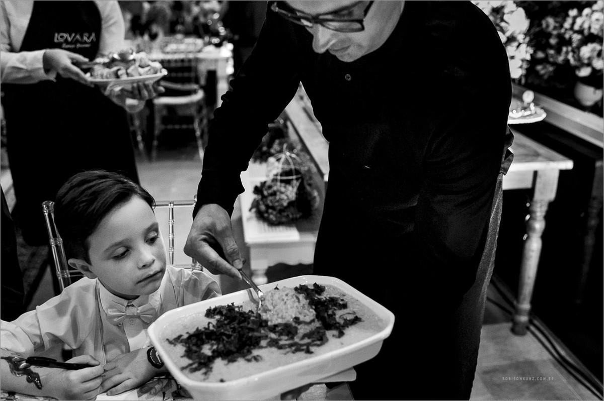 comida em casamentos