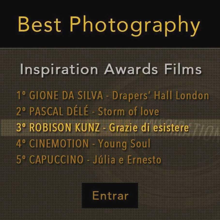 robison kunz filmes premiados com filme na categoria melhor fotografia - filme premiado pela inspiration photographer com melhor fotografia
