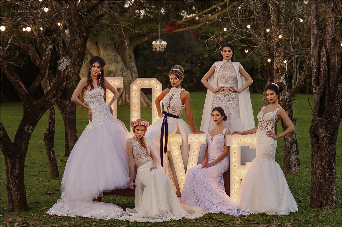 capa da expansão noivas 2016 com 6 noivas e seus vestidos conceituais