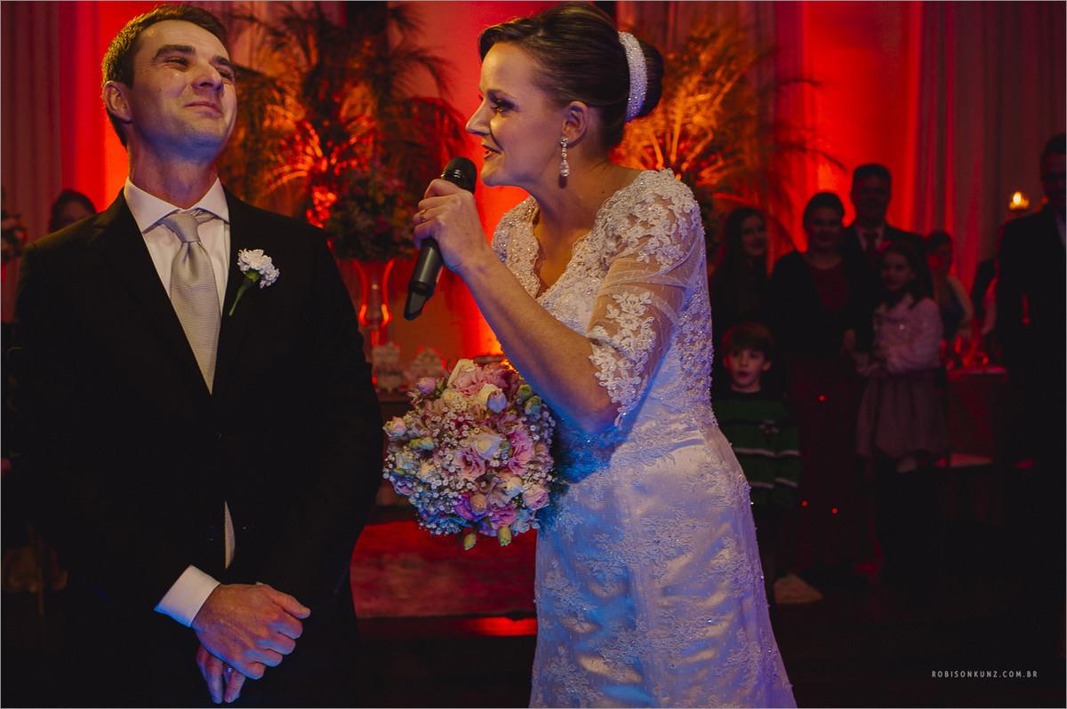 discurso da noiva durante o casamento