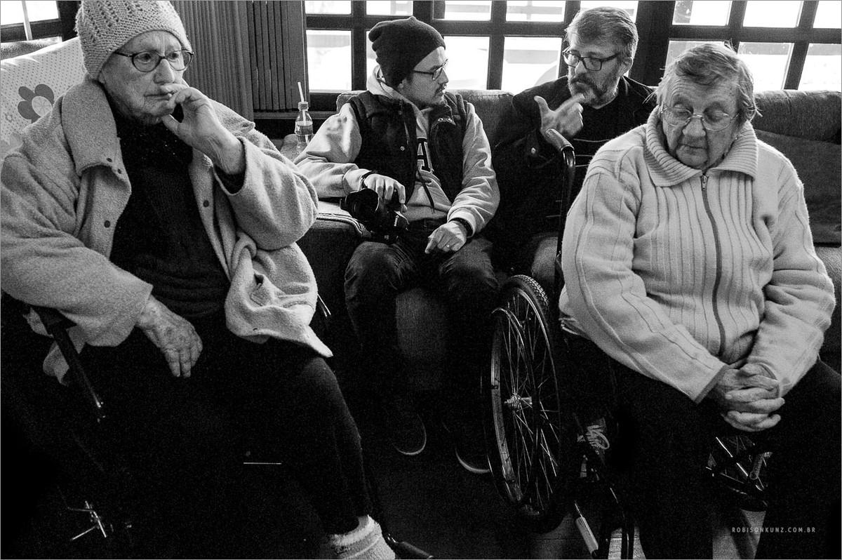 fotografando lar de idosos
