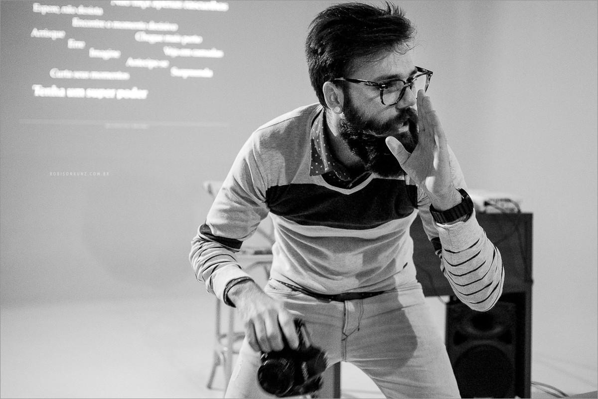 robison kunz durante palestra