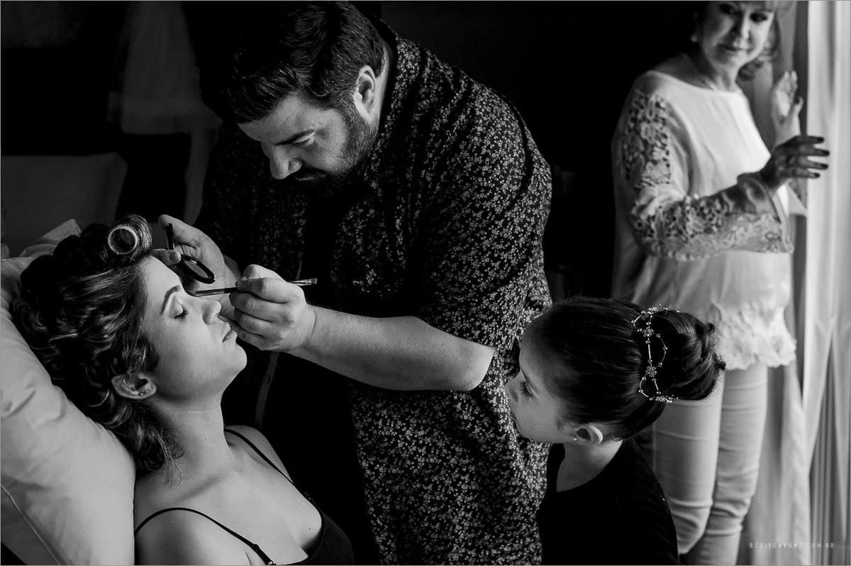 maquiagem da noiva em hotel