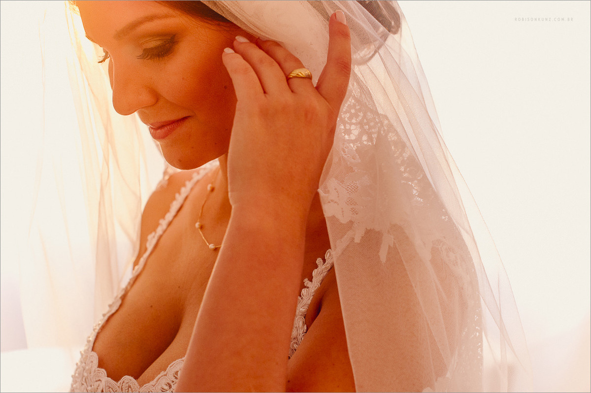 noiva pronta antes do casamento