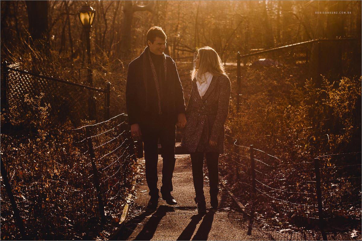 ensaio de casal por do sol do central park