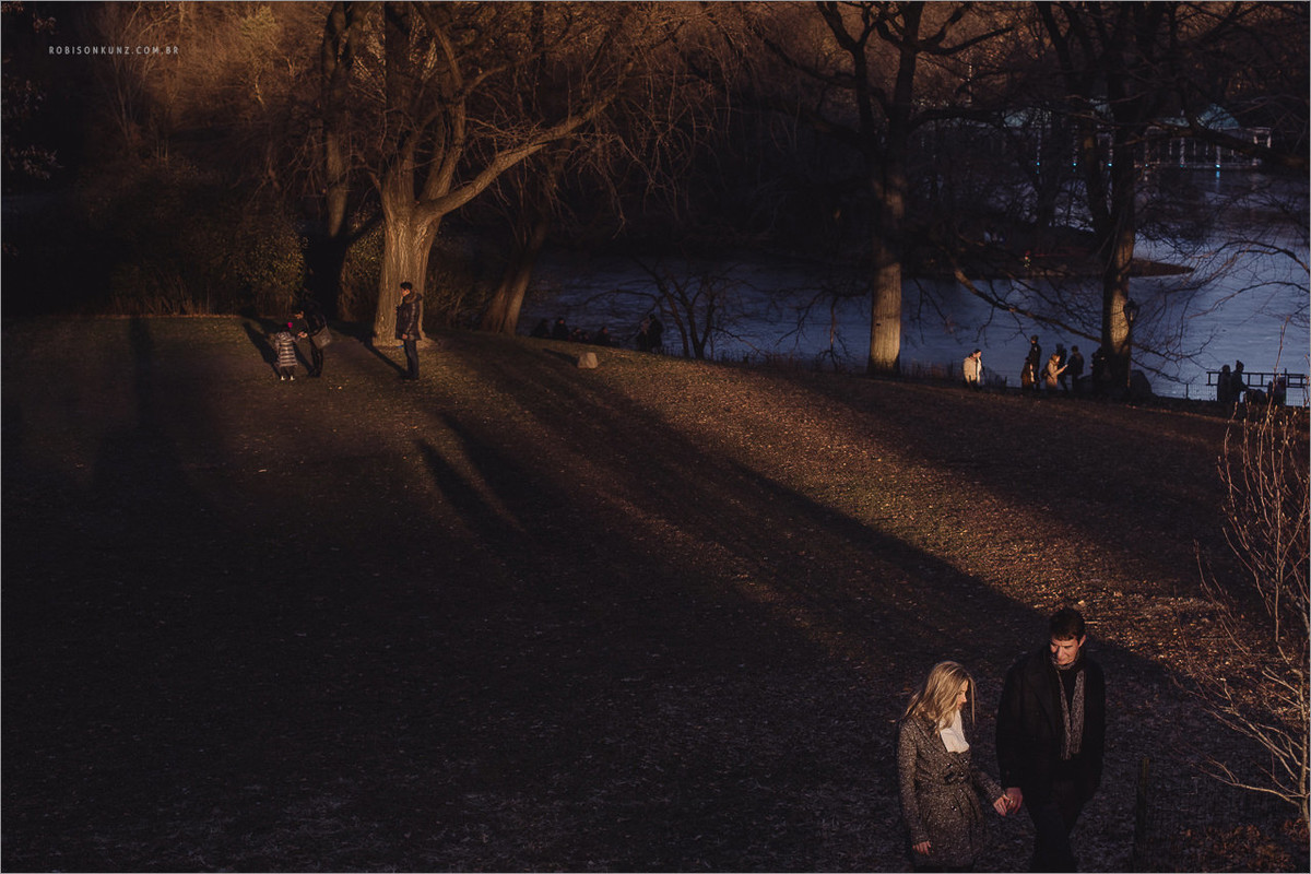 fotos diferentes de casal no central park