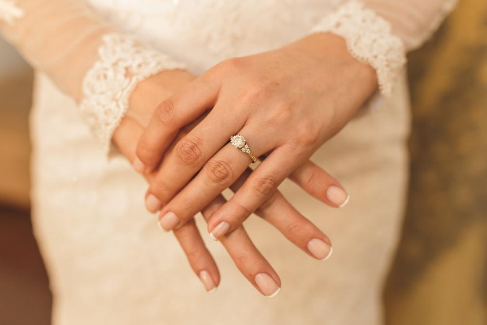 anel de noivado da noiva