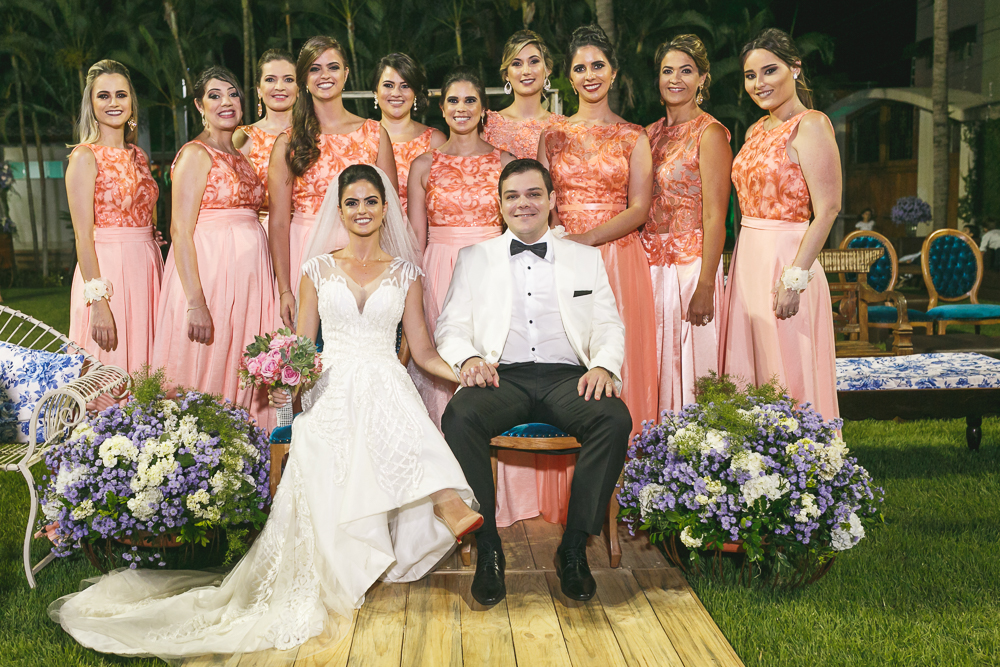 noivos e madrinhas Fotos de casamento Governador Valadares Josie Nader