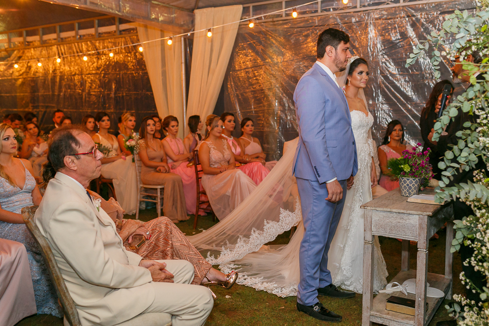 noivos na cermonia, fotografia de casamento, Josie Nader fotografia