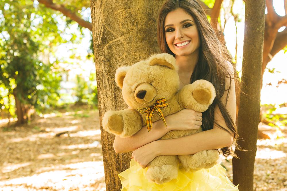 15 anos menina com urso book