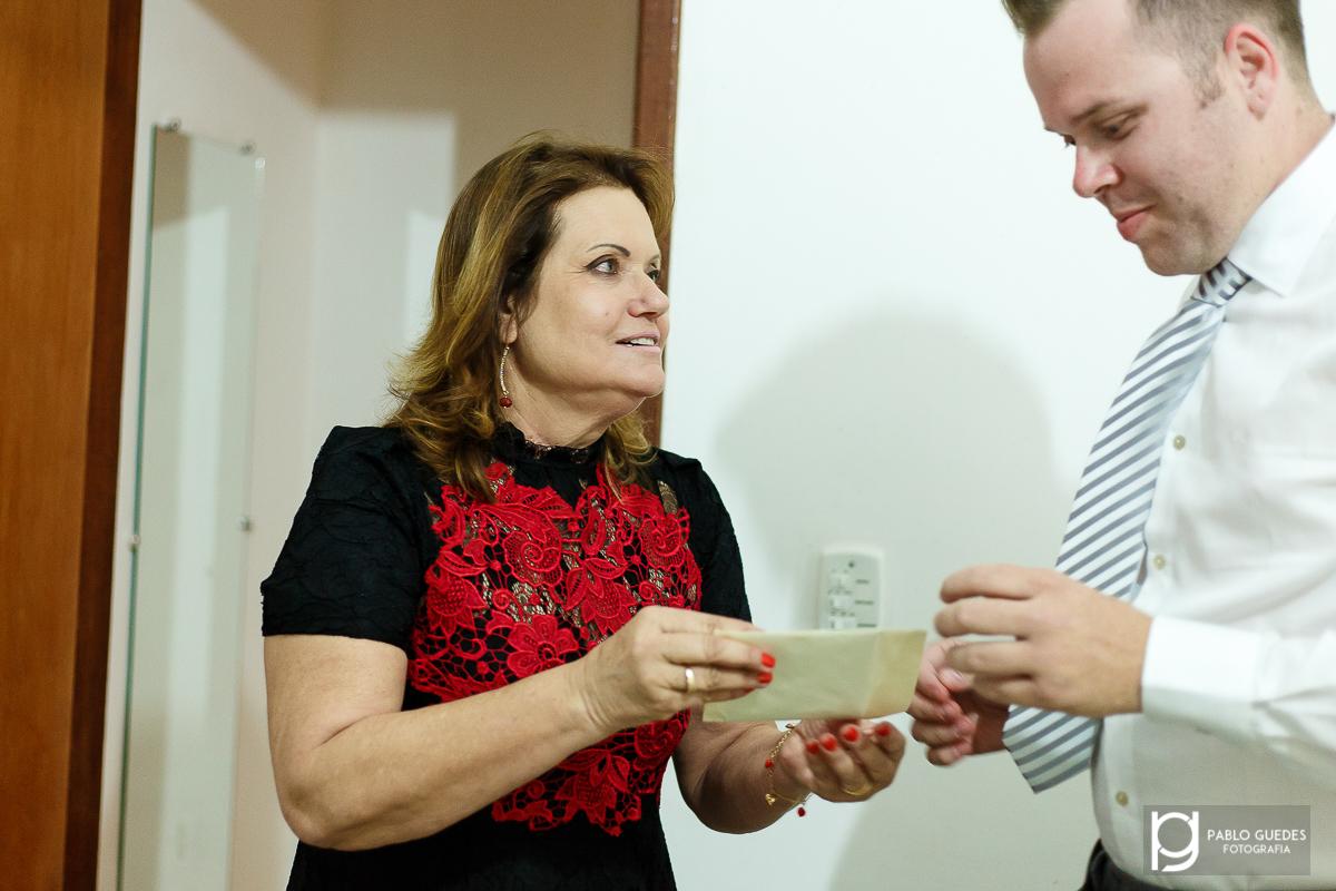 making of do noivo cristiano recebendo carta da noiva