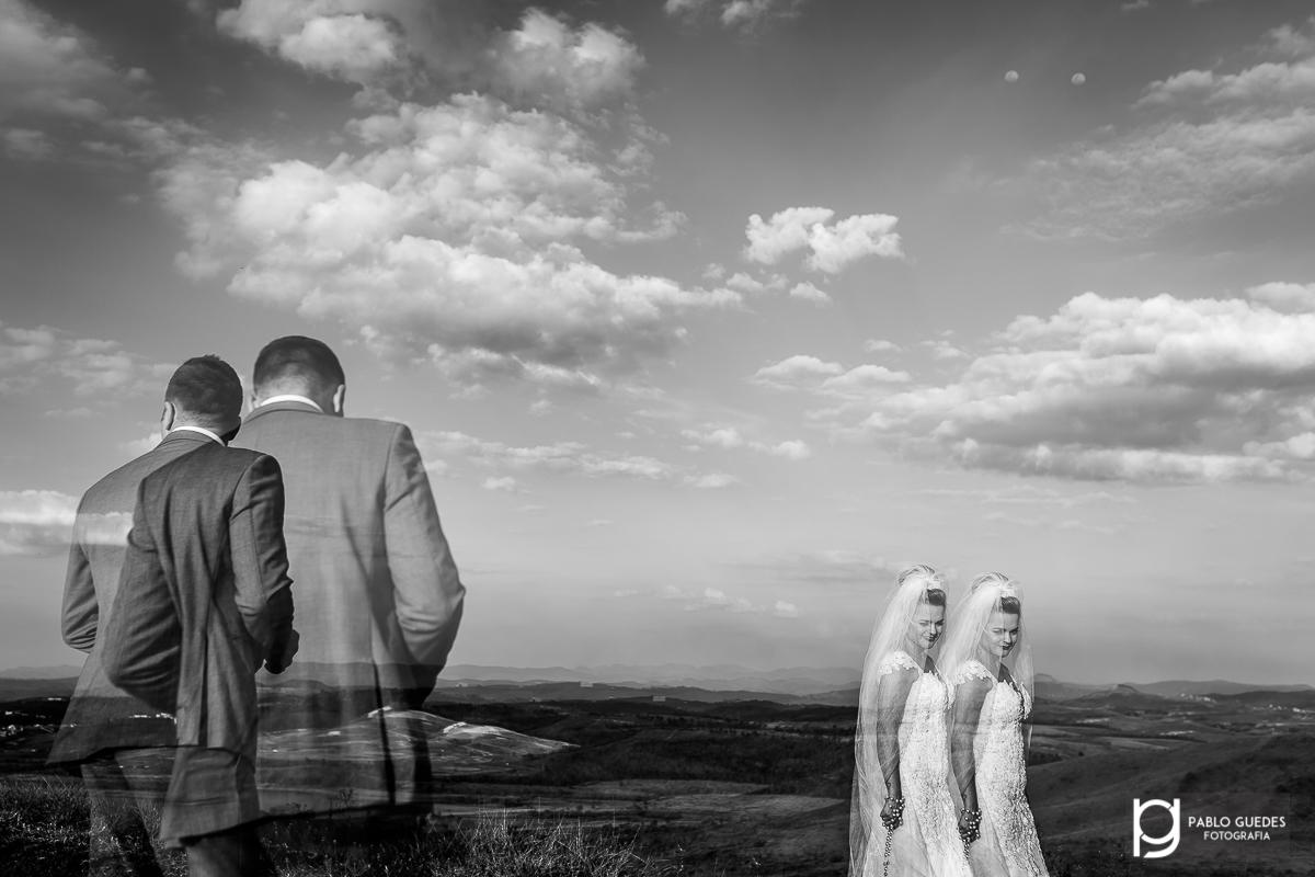 foto dupla do casal fotografia em preto e branco ou peb dupla exposição