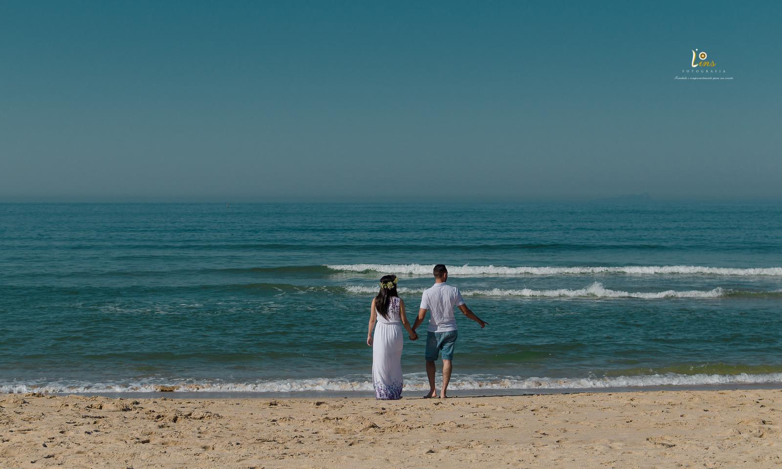 Ensaio Casal de Thiago e Nayara em Praia Camburizinho Litoral Norte