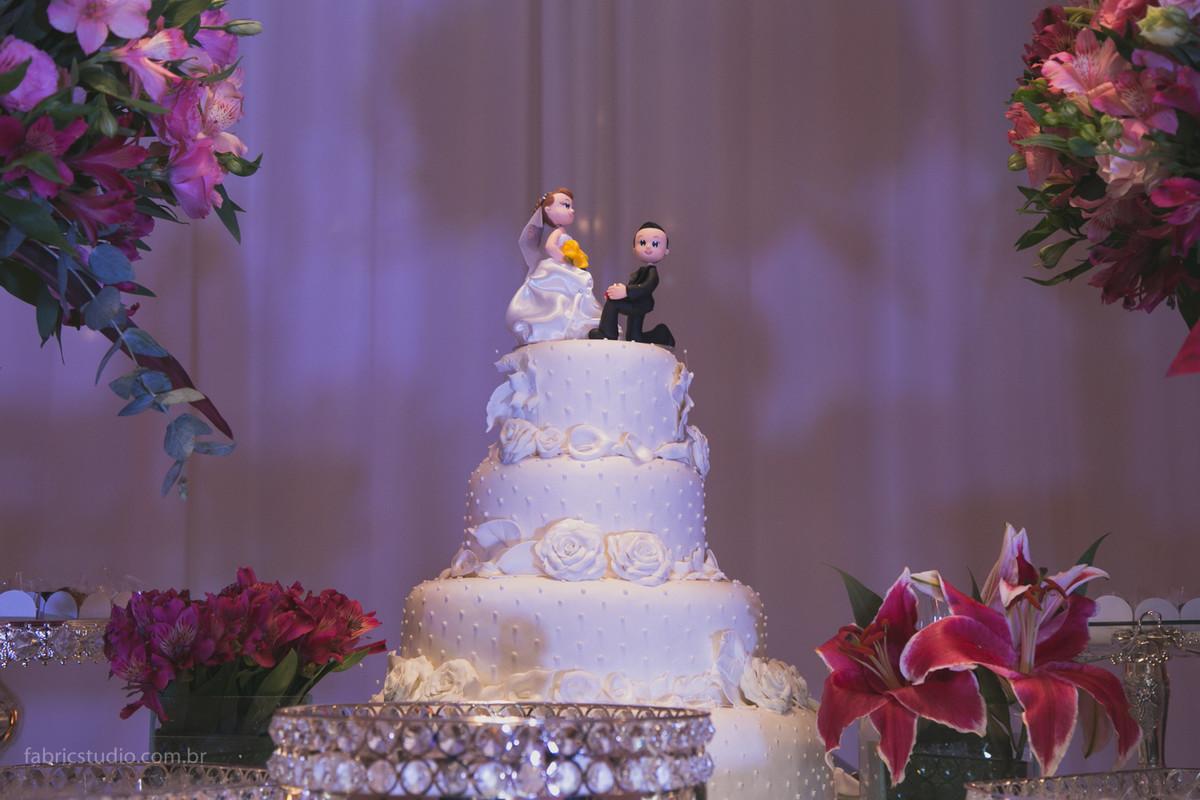 Casamento Espaço Oscar Freire, topo de bolo