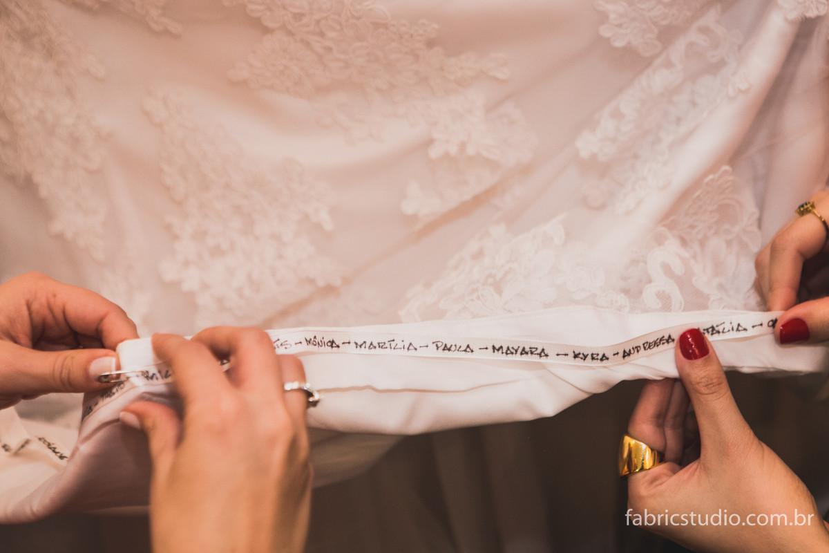 Nomes Barra Vestido Noiva - Making Off Noiva