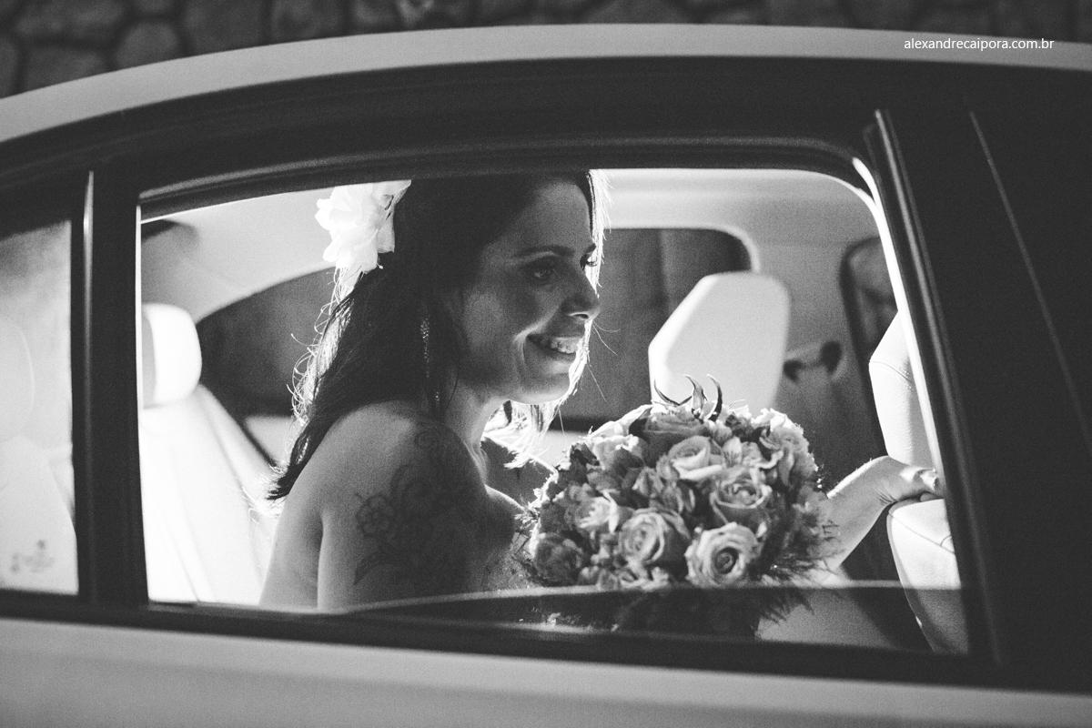 noiva no carro - Maison Delly