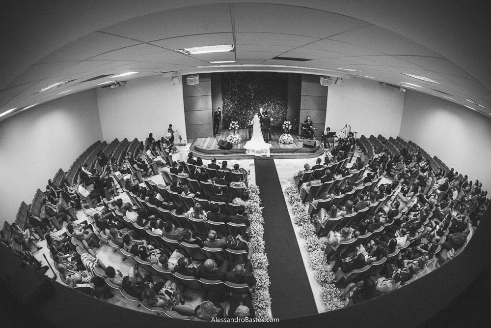 foto panorâmica no casamento na igreja batista central em belo horizonte bh