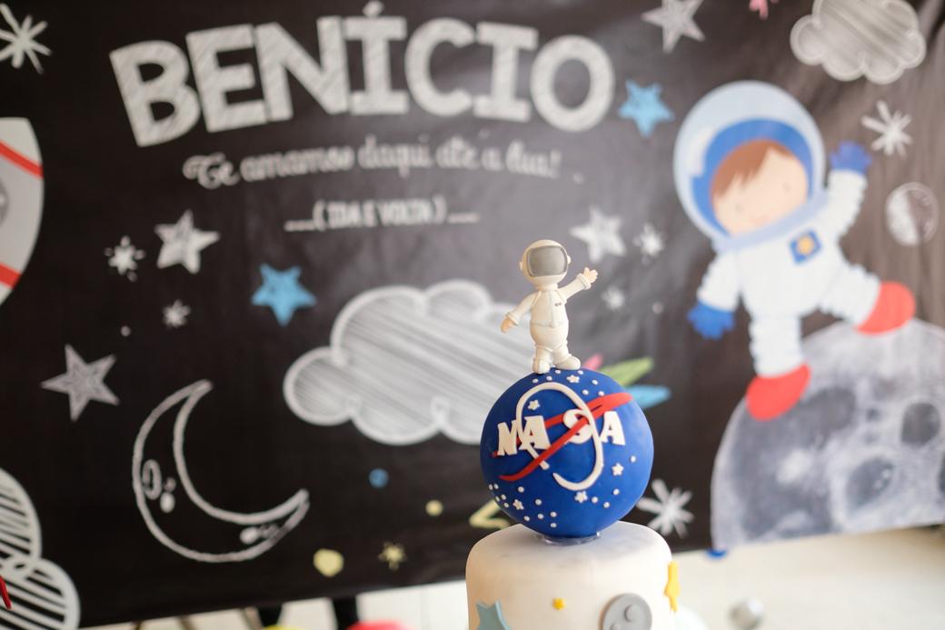 Aniversário 1 ano Benicio camila kobata festa nasa