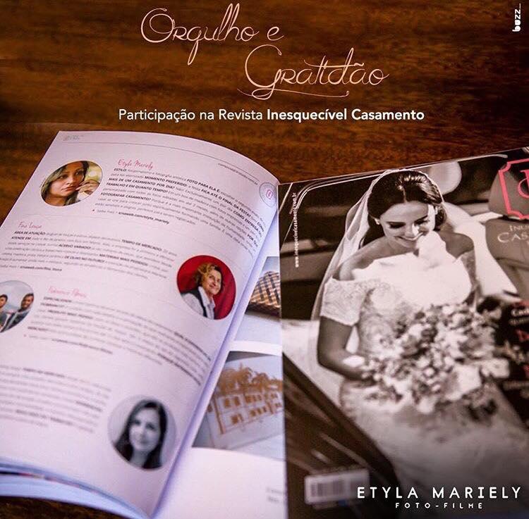 Foto de Participação na revista inesquecível casamento