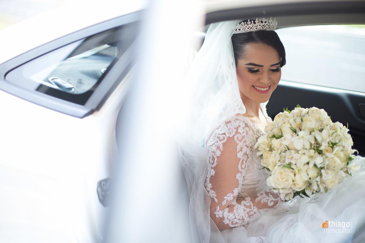 Chegada da noiva Luciane na Igreja, registro de Thiago Mesquita