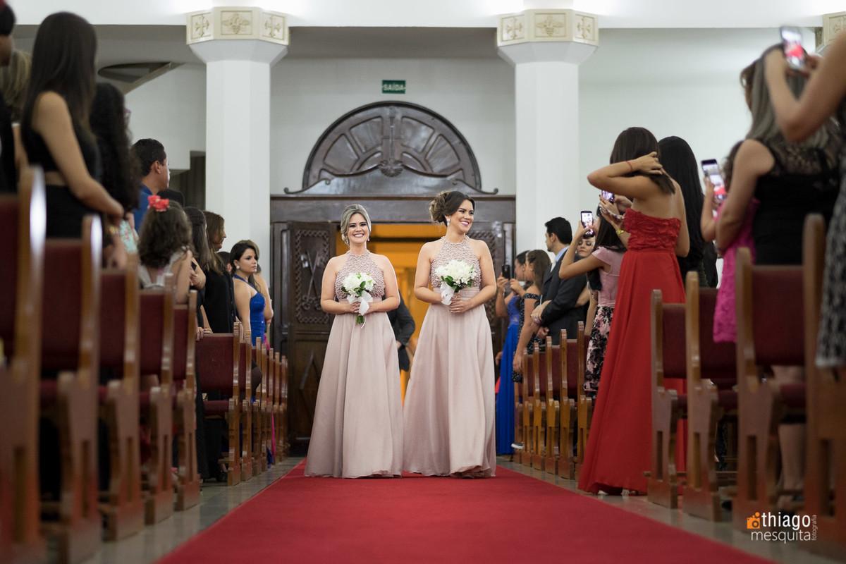 irmãs da noiva Luciane, entrada das madrinhas. Thiago Mesquita