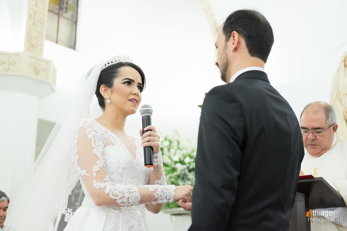 declaração dos votos da noiva Luciane